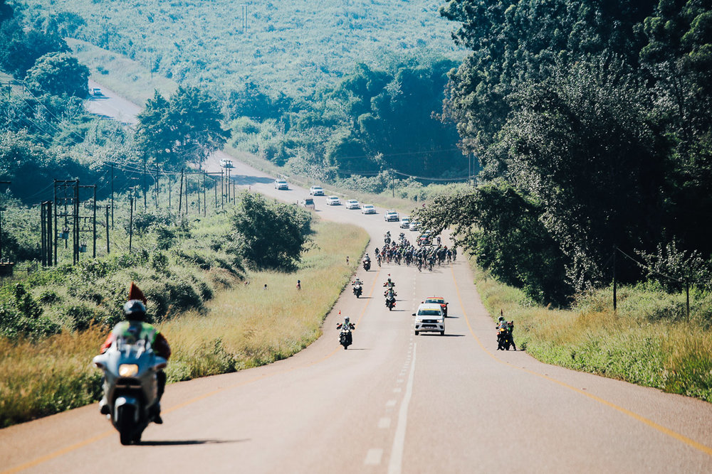 After departing Tzaneen, the peloton headed in a westerly direction and accessed the R36 to retrace the steps of Stage 1 in reverse, taking the R71 towards Magoebaskloof Pass on Stage 2 of the Tour de Limpopo from Tzaneen to Tzaneen on Tuesday 24 April 2018 © HaydsBrown