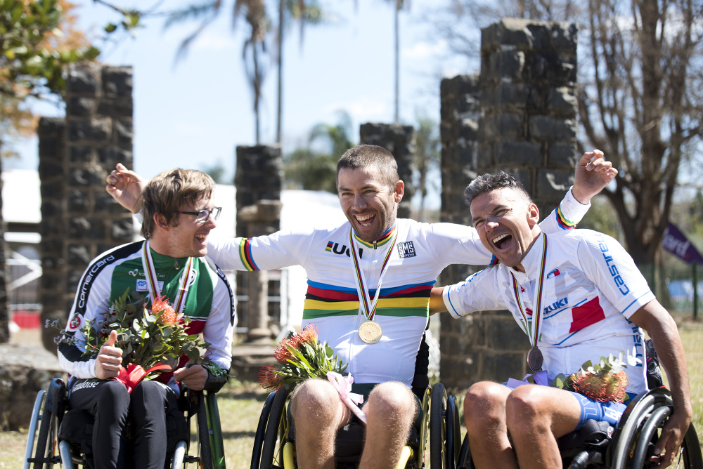 Hi hand cyclist Pieter du Preez , won the gold medal at the 2017 UCI World Championships in Pietermaritzburg and is aiming to notch another title under his belt.