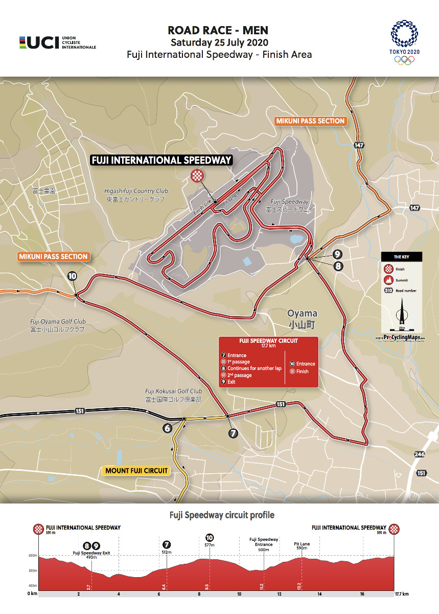Men Elite Road Race – Fuji International Speedway-Finish Area