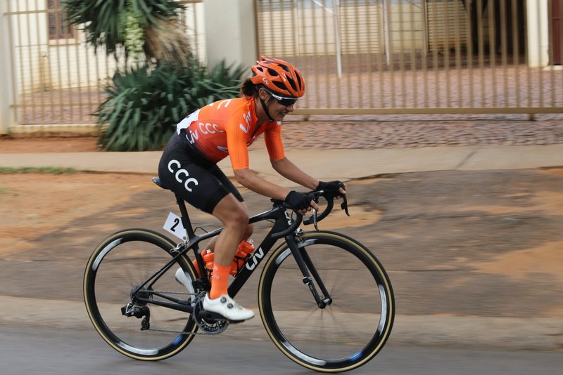 Multiple National Champion Ashleigh Moolman-Pasio clinched the Elite Women's road race title at the 2019 SA ROAD National Championships held in the City of Tshwane from 7-10 February. Photo: Cycling SA/Rika Joubert