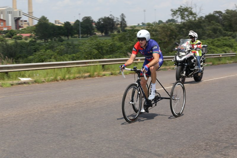 Goldy Fuchs (T2) AT THE 2019 SA ROAD NATIONAL CHAMPIONSHIPS HELD IN THE CITY OF TSHWANE FROM 7-10 FEBRUARY. PHOTO: CYCLING SA/RIKA JOUBERT