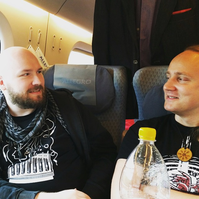 Our Larpproducer and our Larpwriter on the train to the next game! #balticwarriors