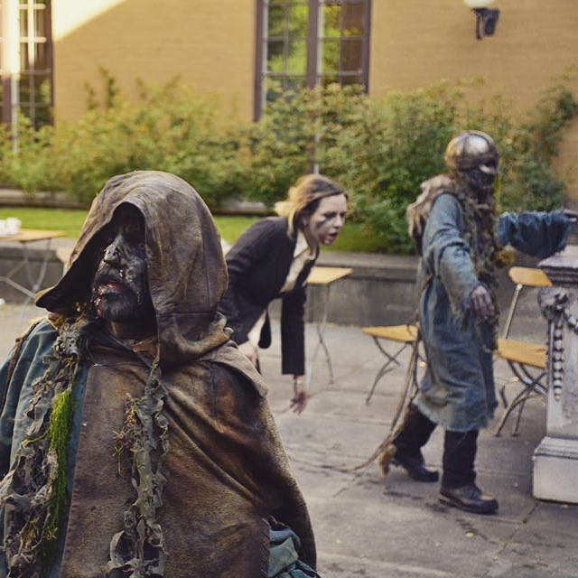 The zombies attack at @historiska today #balticsea #balticwarriors #nordiclarp #nordiclarpforsocialchange #östersjön #bwingane