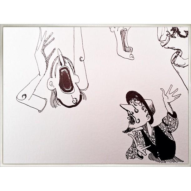 Sketchbook opera doodles. #cartoon #drawing #penandink #sketchbook #opera #music
