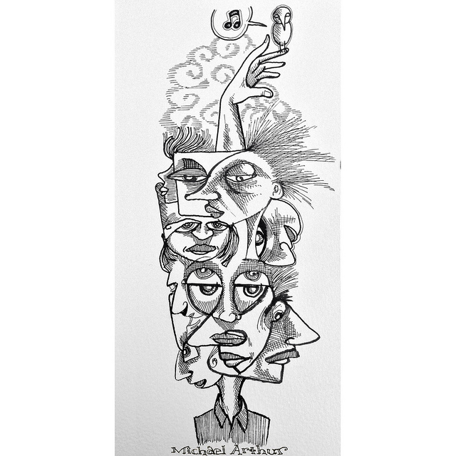 Totem  on Flickr.  Totem pole I found in my sketchbook.