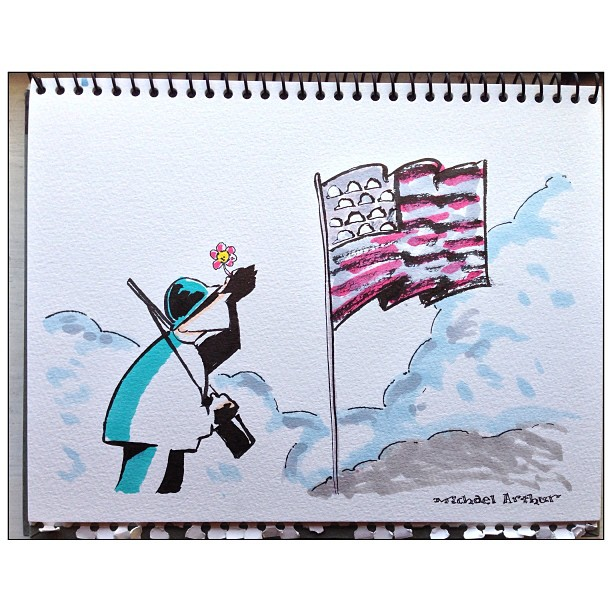 #memorialday #drawing #cartoon #sketchbook #comix #comics #illustration #art #flag #soldier #penandink