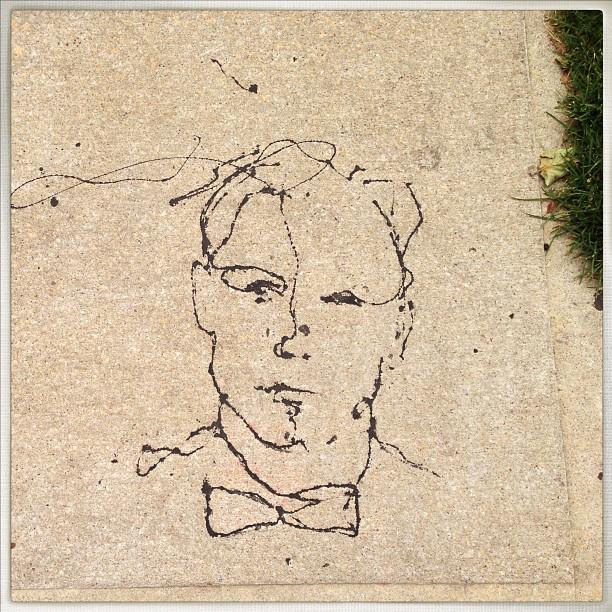 Sidewalk art (not mine). #williamsburg #brooklyn #newyork #drawing #sidewalk #dripping