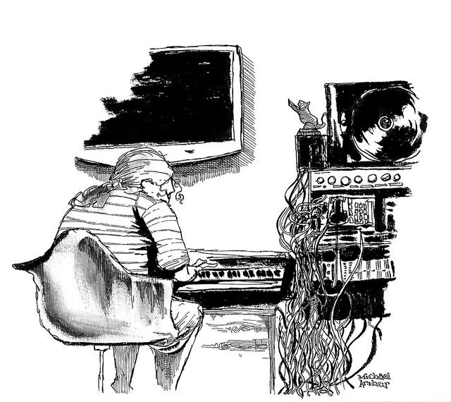 Benji Hughes, in the studio on Flickr. The songwriter: Benji Hughes at work in the studio
