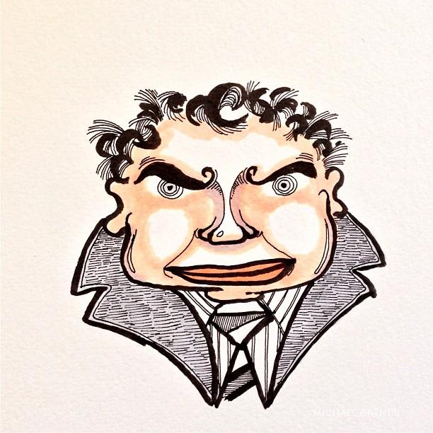 Bugsy. #drawing #cartoon #sketchbook #sketch #comix #comics #art #illustration #gangster #bugsy #penandink