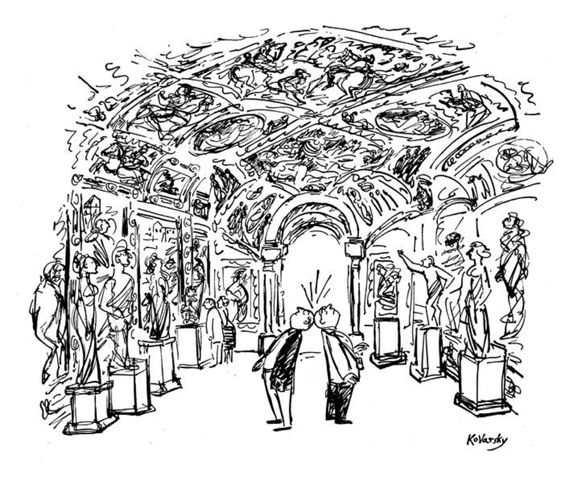 newyorker: A cartoon by Anatol Kovarsky, whose first cartoon appeared in the March 1, 1947, issue of the magazine. Kovarsky is still drawing after all these years: http://nyr.kr/15yN32A Great drawings by an old master who stays young.