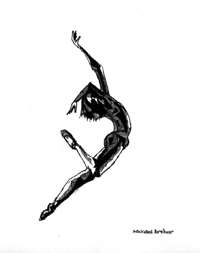 The Dancer. Daniil Simkin, drawn in the rehearsal studio.