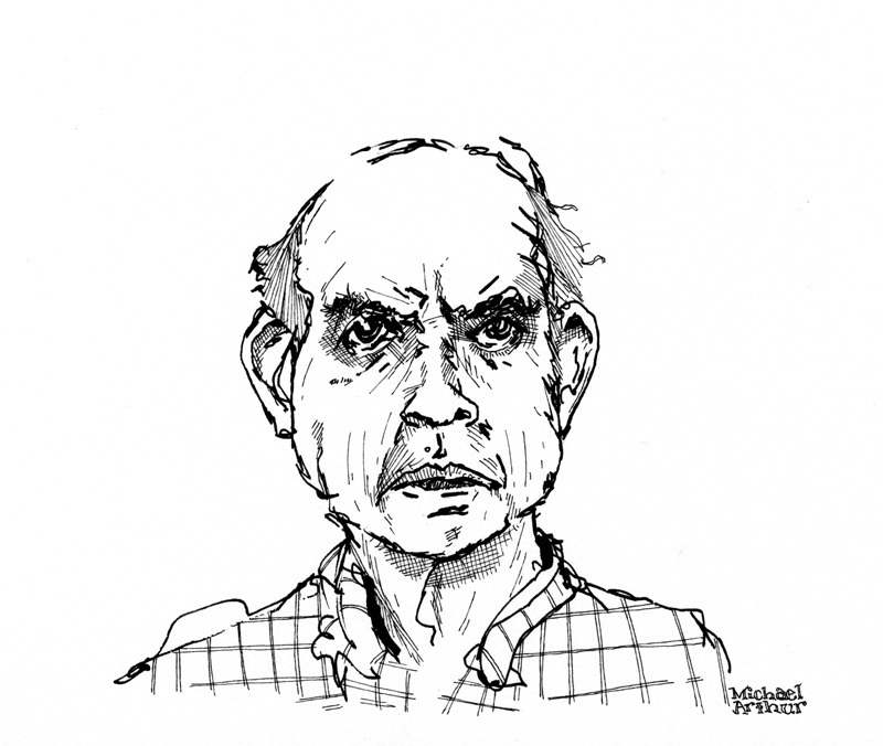 A drawing of Harvey Pekar from a few years back, drawn for the Pekar Project at the request of Dean Haspiel.