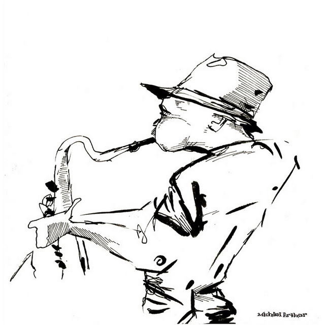 The Sax Player on Flickr.