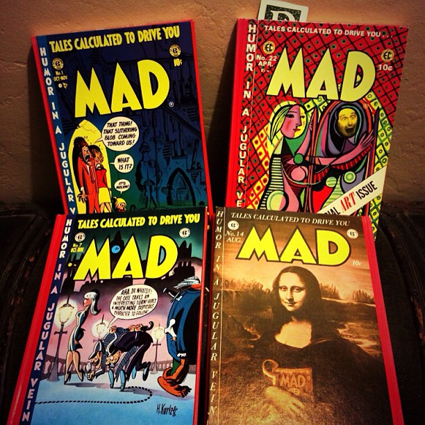 Been searching for these four volumes a long, long time. Found them at Pegasus Books in Oakland. They mine now thanks to laura! #madmagazine #ECComics #RussCochran #art #comics #comix #kurtzman #love