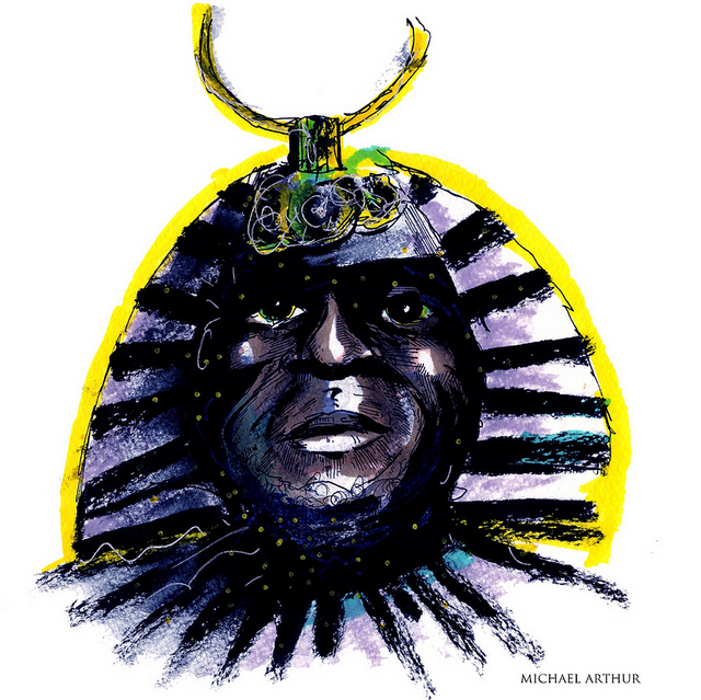 Sun Ra on Flickr. Tonight at Jazz at Lincoln Center! I'll be drawing along with the Sun Ra Arkestra, celebrating the centenary of Sun Ra! This drawing of Sun Ra was done the day I got the call inviting me to join the project….