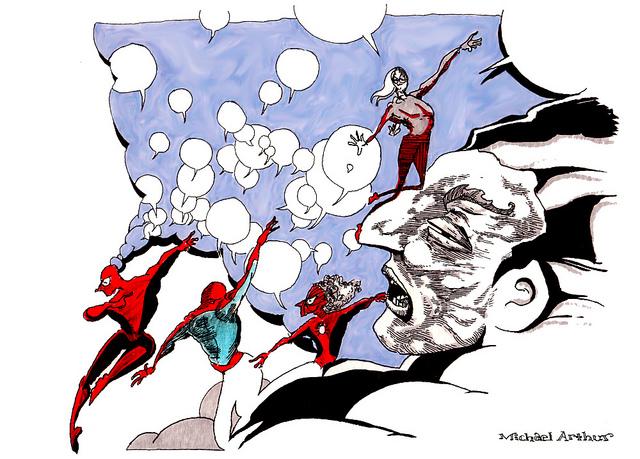 Spidermen  on Flickr.  Sketchbook Page