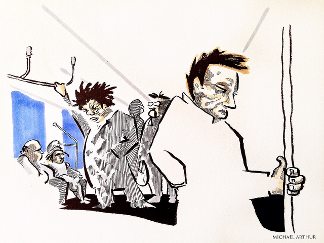 Subway Sketchbook: Taking The A Train on Flickr.