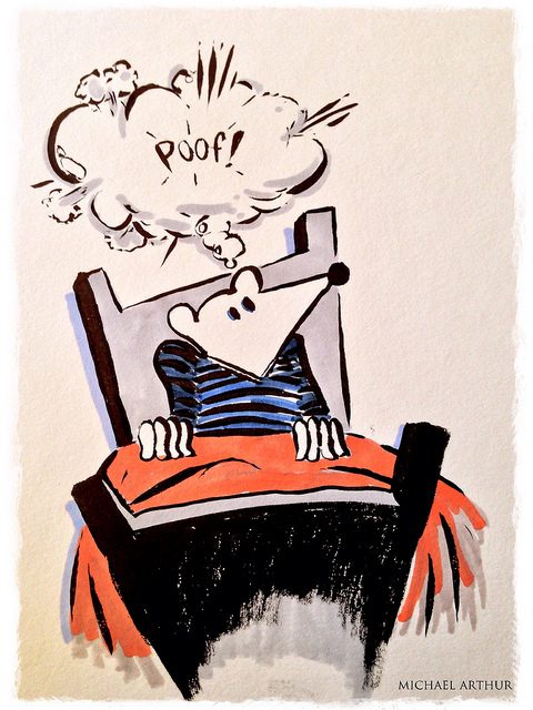 "Sketchbook  on Flickr.  ""The Abrupt Wake Up"" or ""Dude, I Want My Dream Back"""