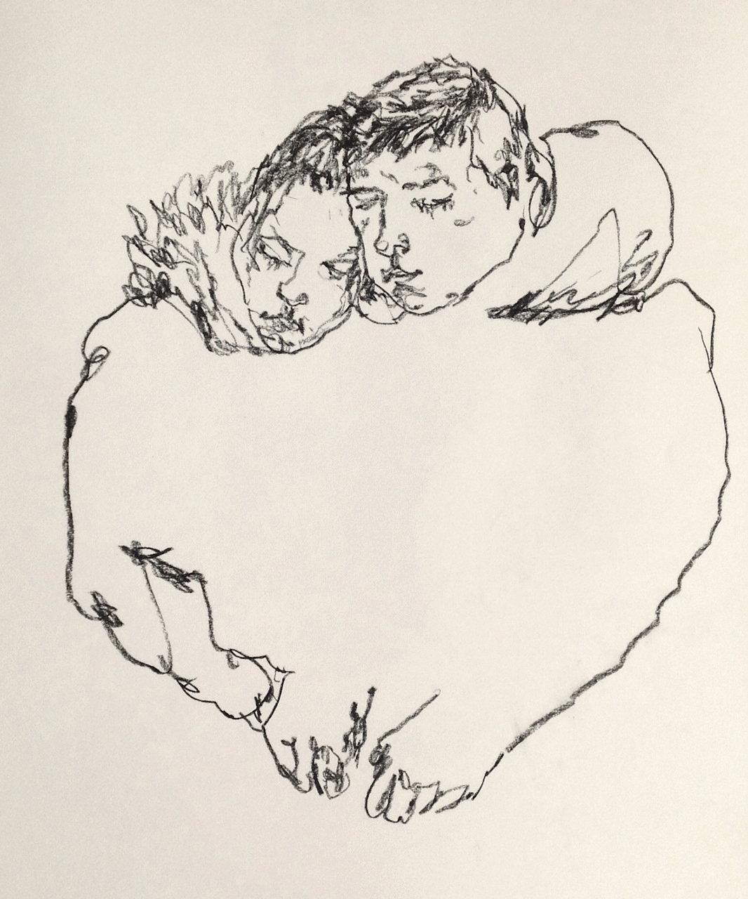 mountvision: A couple drawn this morning in the downtown 1 subway train, november 2013. Gregory Muenzen
