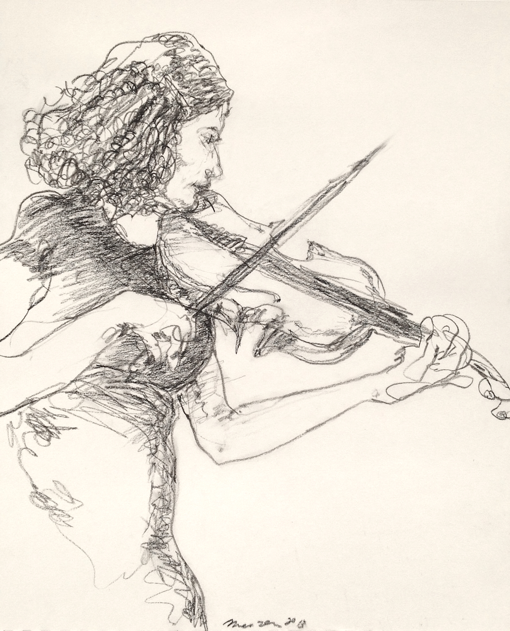 mountvision: Patricia Chamless drawn at a concert of Balthrop, Alabama at Joe's Pub, NYC. Gregory Muenzen