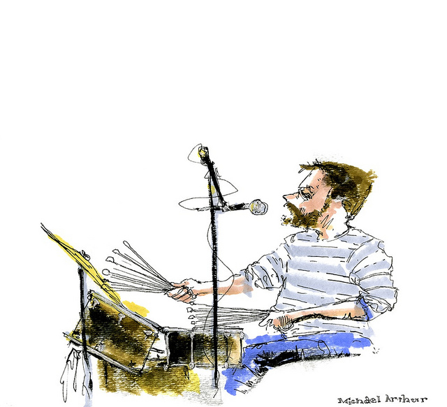 Joe Russo, in rehearsal for The Complete Last Waltz  on Flickr.