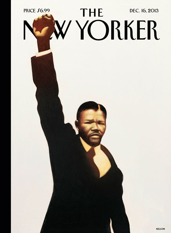 "newyorker :     A look at next week's cover, ""Madiba,"" by the artist  Kadir Nelson :  http://nyr.kr/1f0Bwh0"