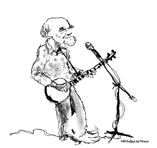Pete Seeger at Joe's Pub, May 2009. A direct link to the drawing is  here .