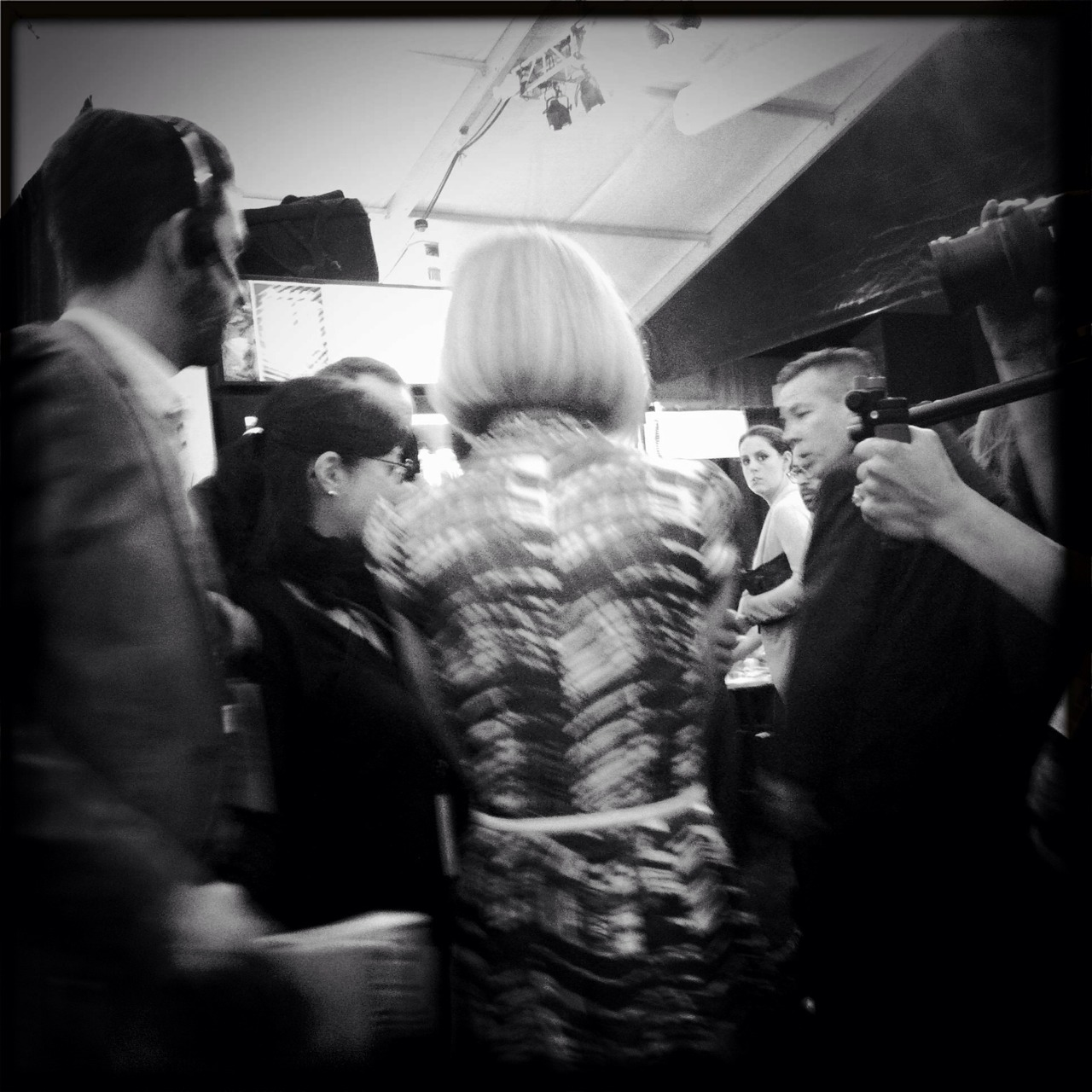 joespub :     Anna Wintour, backstage at Vera Wang show. Fall Fashion Week, 2010. Photo by  inklines .     A picture I caught backstage at the Vera Wang Fashion Week show, back in 2010…