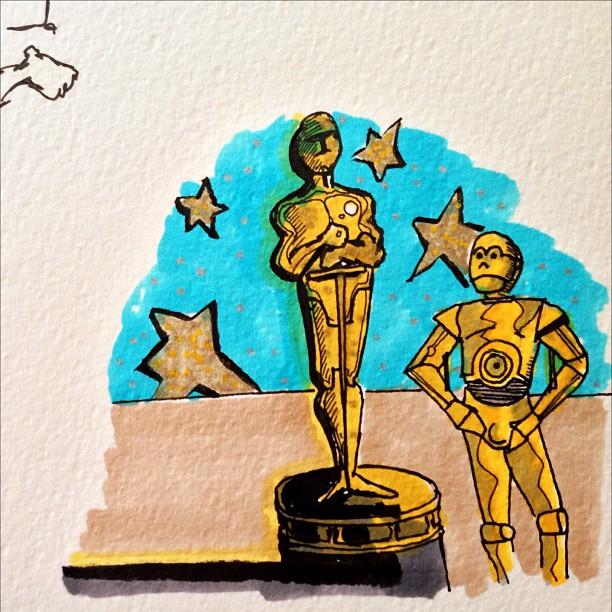 Oscar Morning drawing.