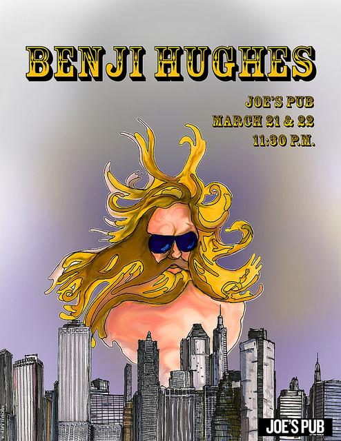 Benji Hughes at Joe's Pub  on Flickr.   Poster I drew and designed for Benji Hughes's upcoming EPIC shows at Joe's Pub!