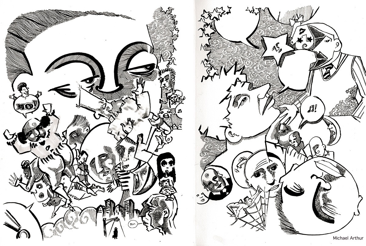 A coupla Sketchbook pages.