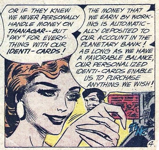 tompeyer :     1962 Hawkman comic predicts direct deposit, debit cards