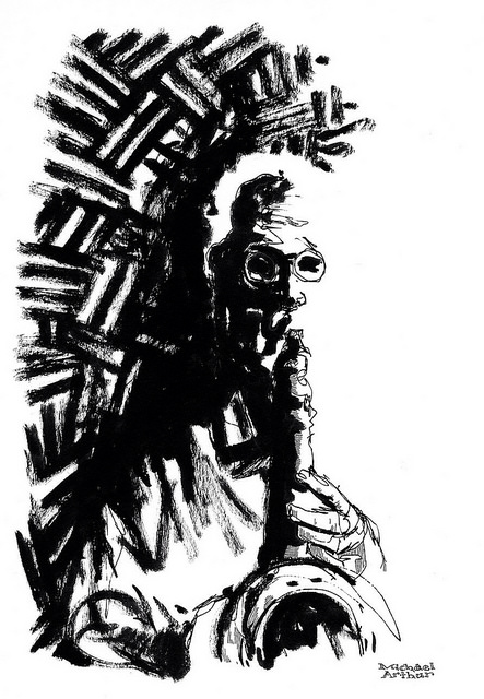 Lee Konitz at Joe's Pub  on Flickr.  Friday Flashback. My drawing of Lee Konitz at Joe's Pub in 2008.