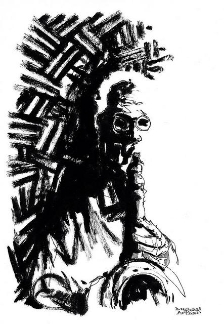 Lee Konitz at Joe's Pub on Flickr. Friday Flashback. My drawing of Lee Konitz at Joe's Pub in 2008.