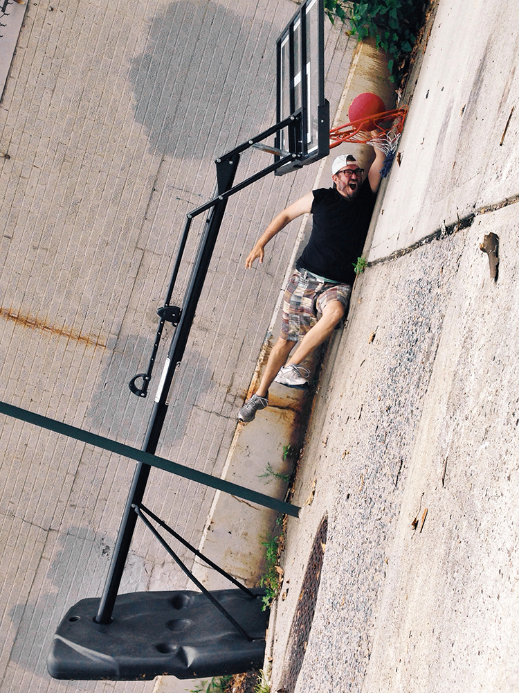 berniedechant: Streetball w/inklines Brooklyn, NY This is my patented laid down layup!