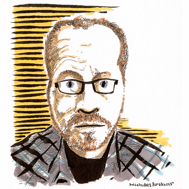 Seth Kushner, Brooklyn-based photographer and graphic novelist on Flickr. Seth Kushner is an inspiring guy. A founding member of the Brooklyn-based Hang Dai studio collective of artists (a group that includes Dean Haspiel, Josh Neufeld among others), Kushner was recently diagnosed with Leukemia. Kushner—who has been hospitalized since his diagnosis—has turned his predicament into a bone marrow drivethat has brought attention to how easy it is to become a potential donor. Check out his FB page for more info—and look in to organizing a swab party to become a bone marrow donor. Seth's friends and admirers have been sending in portraits of him and the one above is included in the gallery he's been updating on his FB page. Send Seth a drawing and include your best wishes …