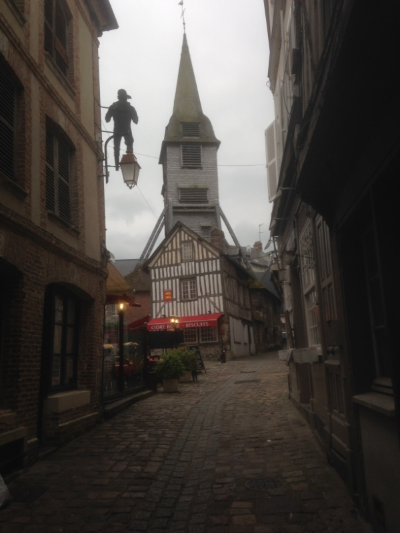 A view of Honfleur that is not the old harbour.