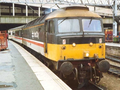 A Class 47 Intercity : Attribution:  Black Kite  at the  English language Wikipedia