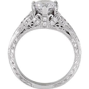 Vintage Wedding Ring Settings 16 Vintage Engraved engagement rings