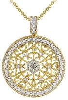YELLOW GOLD WITH DIAMONDS MEDALLION