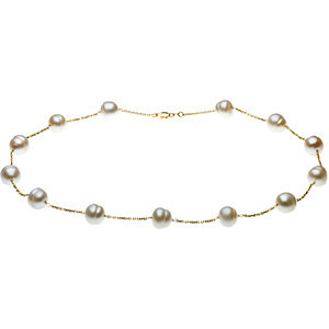 Pearl by the yard necklace 14kt white yellow gold $340.00.jpg