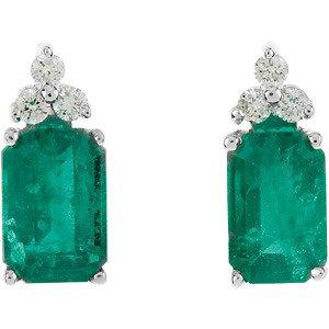 Emerlad cut Emerald and Diamond earrings.jpg