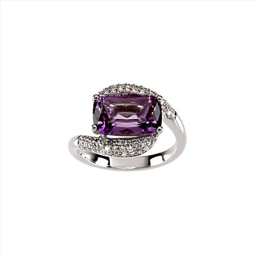 14kt White Gold Amethyst Diamond Twist Ring.jpg