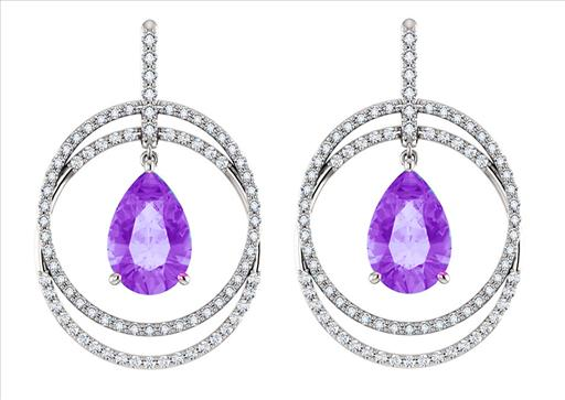 14kt White Gold Amethyst Diamond Pear Shape Earrings.jpg