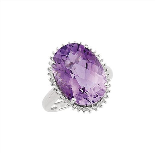 14kt White Gold Diamond Amethyst Ring.jpg