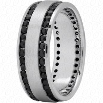 MENS BLACK DIAMOND WEDDING BAND New York Engagement Ring