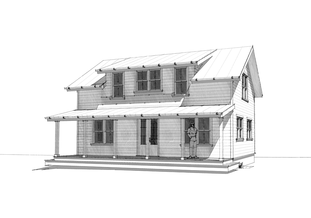 'The Bantam House EX' - 1,250 SF.  Not tiny, but definitely small.  (click image for plans!)