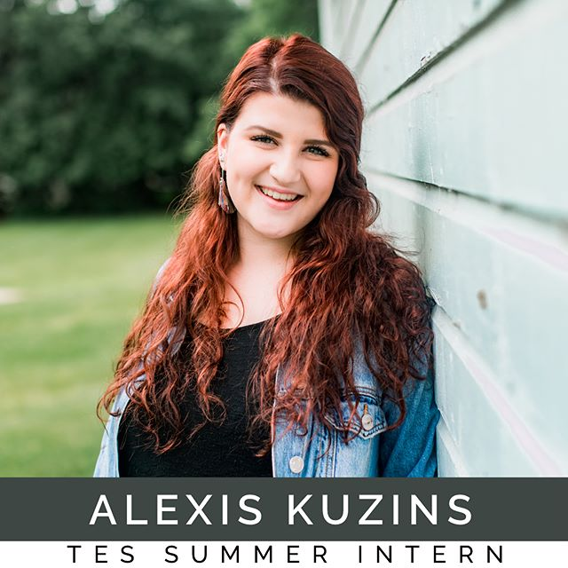 "New #TES40wk summer intern, Alexis Kuzins, graduated high school a year early just so she could come live in the #hubofawesome and serve the community of La Porte with the @emergingsound. ""I have such a passion for music and I am so excited to learn all that I can."" @alexisnaomi1 #peopleandsongs #TEScamp"