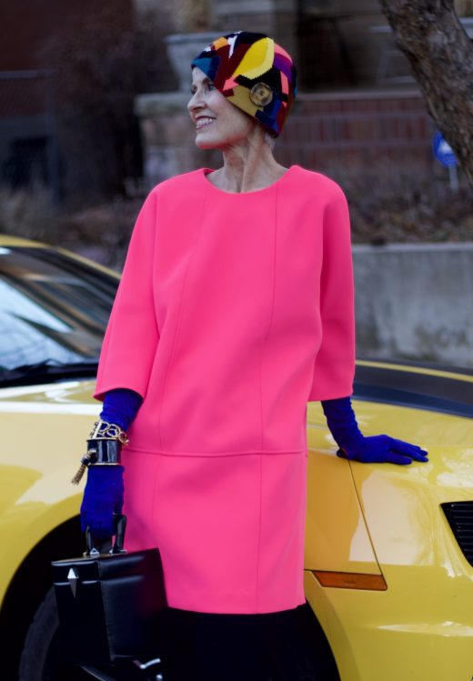 Judith wears a  Banana Republic  dress and vintage  Oscar de la Renta  cuffs from Common Threads with her own hat by  Carol Markel . All photos: Daniel Nolan and Wren Duggan
