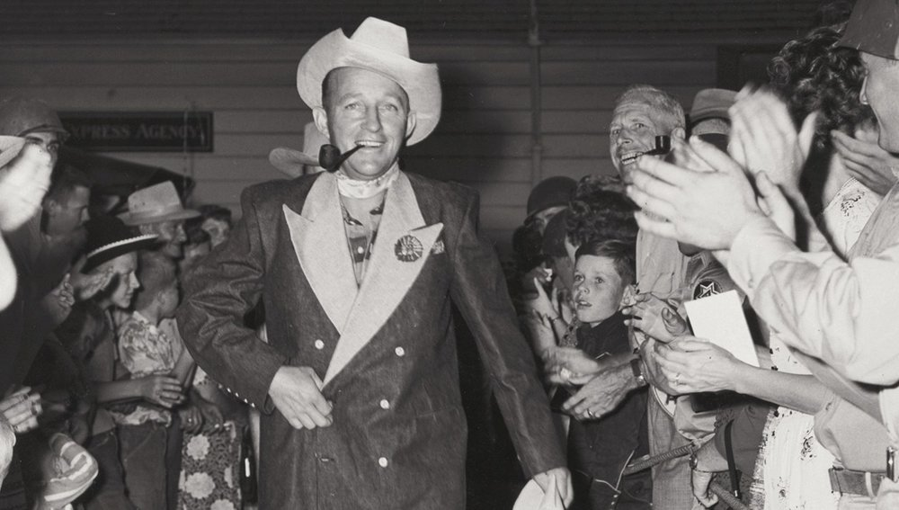 Bing Crosby in his custom Levi Strauss Tuxedo. Image Credit: via Boing Boing.